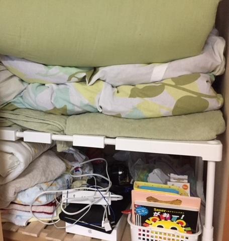 ニトリの押入れ整理棚を使って布団収納を整理
