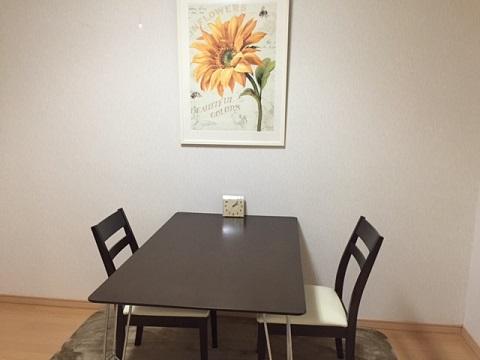 ダインイングテーブルの部屋