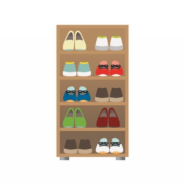 靴の収納アイデア。雪国アパート暮らし3人家族の小さくてもスッキリさせる工夫。おすすめのシューズラックも。