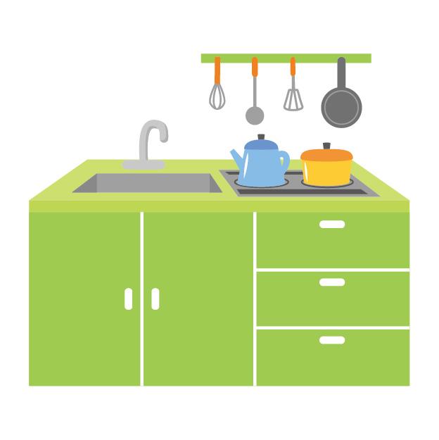雪国ミニマリストのキッチン。賃貸アパートで小さくても使いやすく。