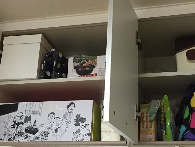 シンク上の収納(ホットプレートや子供用のお菓子など)
