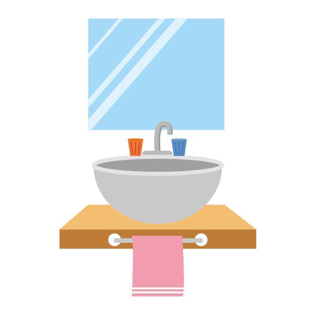 ミニマリスト家の洗面所(賃貸アパート)。収納方法や使っている洗面用具